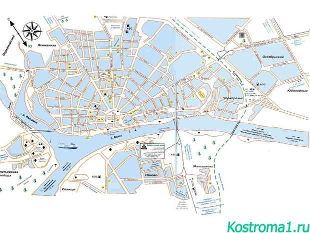 Карта анапы с улицами и