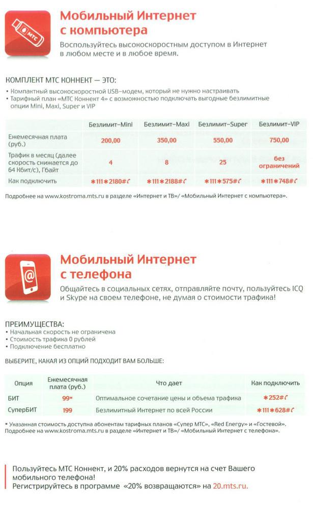 Часто задаваемые вопросы - Костромская область - МТС