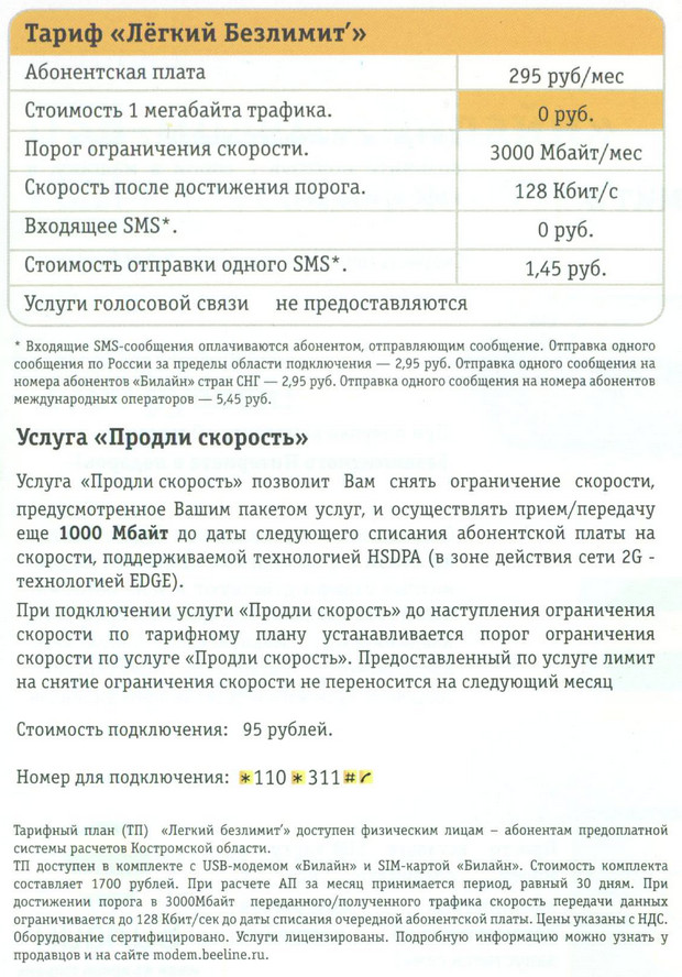 Smart - Костромская область - МТС